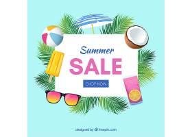 现实主义风格的夏季销售背景_2307336