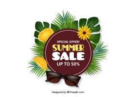 现实主义风格的夏季销售背景_2307340