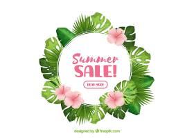 现实主义风格的夏季销售背景_2307344
