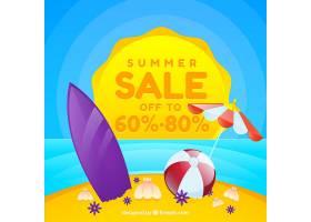 现实主义风格的夏季销售背景_2307346