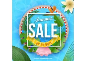 现实主义风格的夏季销售背景_2352795