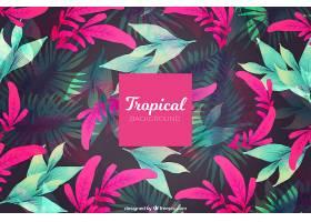 热带夏季背景粉色和绿色的植物_2200168