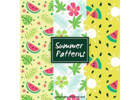 漂亮的夏日装饰图案_1192507