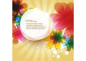 漂亮的花朵背景为您的文本留出空间_1165290