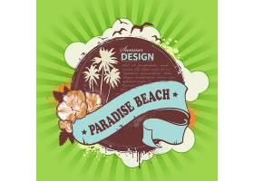 海滩海报设计_1389627