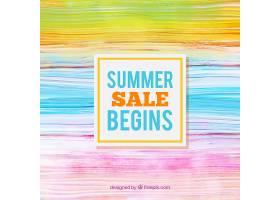 水彩画风格的夏季销售背景_2181417