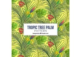 棕榈树欢快的背景_1103707