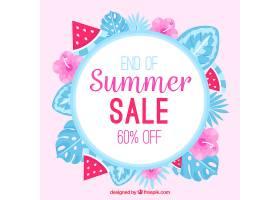 植物和西瓜的夏季销售背景_2346179