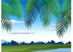 树下美丽的自然景观_2204423