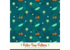 树叶和棕榈树的装饰图案_1103253