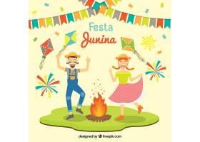 有趣的JESTA JUINA背景与跳舞的情侣_1123734