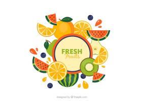 有趣的热带水果背景_1113006