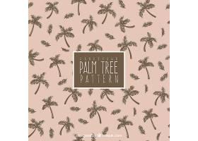 手绘棕榈树装饰图案_1107471