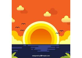 平坦的日落背景_910264