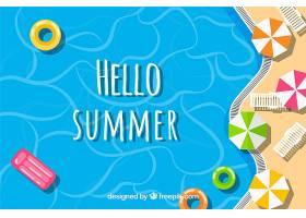 您好夏日背景海滩俯瞰_2162979