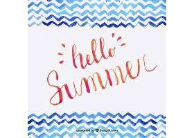 您好带字母的夏日背景_2241687