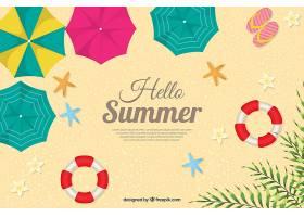 您好带有顶视图的夏季背景_2218979