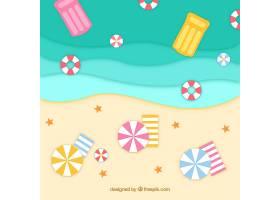 平面式从顶部背景开始的海滩_2411791