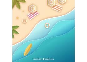 平面式从顶部背景开始的海滩_2411803