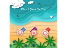 平面式从顶部背景开始的海滩_2411804