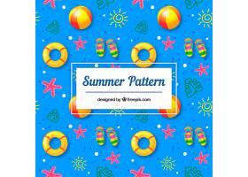 带有海滩元素的夏季模式_2333858