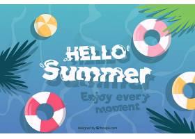 带有海滩元素的夏季背景_2146458