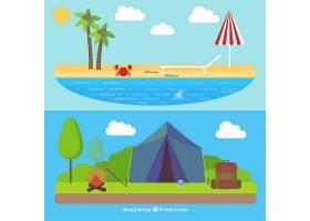平面设计中的夏季景观_897439