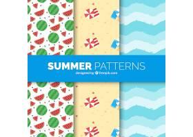 平面设计中的夏日装饰图案_1134521