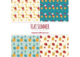 平面设计中的夏日装饰图案_1141183