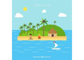 平面设计中的海岛夏季景观_897438