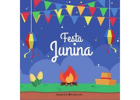 平面设计中的篝火和嘉年华朱尼娜Festa Jun_1134654