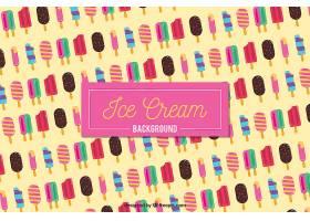 彩色冰淇淋在平面设计中的背景_1138613