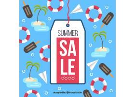 带标签的夏季销售背景_2152145
