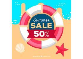 带救生带的夏季销售背景_2154104