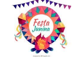 带有几何元素的Festa Junina背景_2214042