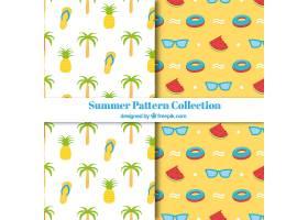 带有可口水果的装饰性夏季图案_1134533