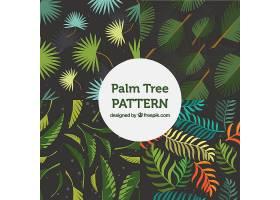 奇妙的棕榈树叶子图案_1107510