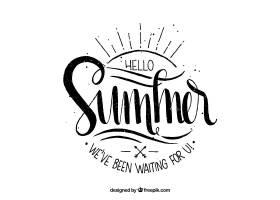 带字母的夏日背景_2190175