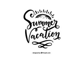 带字母的夏日背景_2347394