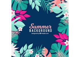 夏日背景花卉风格_2297883