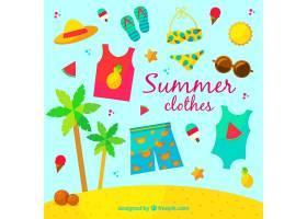 夏装套装为扁平设计_1190442