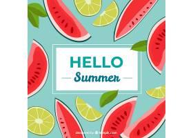 夏日的背景水果味道鲜美_2146836