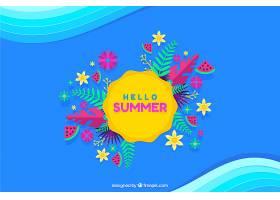夏日背景五颜六色的风格_2306178