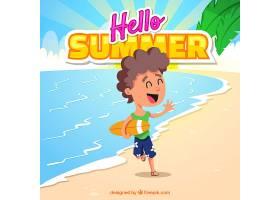 夏日背景在海滩上_2179612