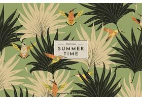 夏日背景复古风格的植被_2411483