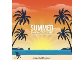 夏日背景带海滩_2229212