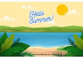 夏日背景海滩景观_2146432