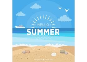 夏日背景海滩景观_2146942