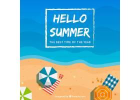 夏日背景海滩景观_2146944