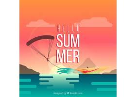 夏日背景海滩景观_2147119
